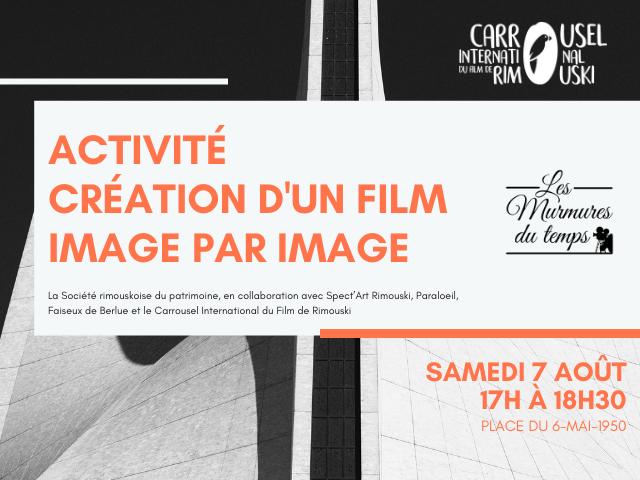 Création d'un film image par image